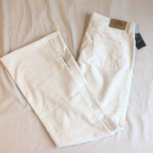LRL Ralph Lauren White Corduroy Jeans, 10